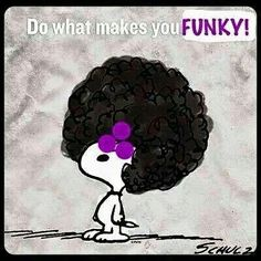 Snoopy is not only Joe Cool, he's funky cool.