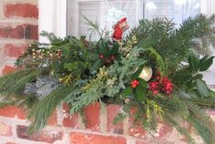 Window Box Winter Planter Christmas Win Design Ideas, Pictures, Remodel, and Decor - page 4