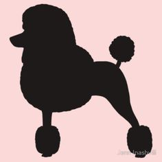 """Standard Poodle Silhouette (Black with Fancy Haircut)"" T-Shirts & Hoodies by Jenn Inashvili 