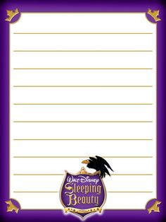 """Sleeping Beauty - Project Life Journal Card - Scrapbooking ~~~~~~~~~ Size: 3x4"""" @ 300 dpi. This card is **Personal use only - NOT for sale/resale** Logo/clipart/crown belong to Disney. *** Click through to photobucket for more versions of this card ***"""