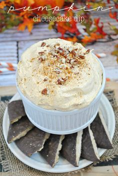 Pumpkin Cheesecake Dip | www.somethingswanky.com