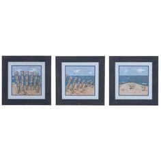Crestview Beach Scene 1,2, & 3 (Set Of 3) Domestic Wall Art CVA3576