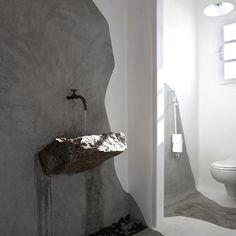 22 Wabi-Sabi Home Interior Design Ideas: Finding Beauty in Imperfection Bad Inspiration, Bathroom Inspiration, Wabi Sabi, Bathroom Interior, Modern Bathroom, Natural Bathroom, Modern Sink, Japanese Bathroom, Interior Architecture