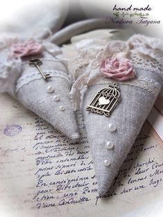Тильда-сердечко в стиле шебби-шик. Handmade.