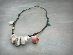 seapink sculptural necklace by greybirdstudio on Etsy