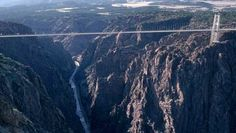 Royal Gorge Bridge, Canon City, CO.  1053 feet above the Arkansas River.  1053 feet.  Above a river.  Dear lord.
