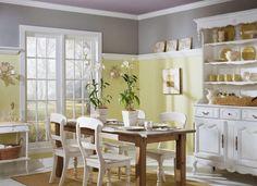 farbe küche streichen landhausstil gelb satt sonnig ...