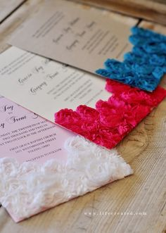 Craftaholics Anonymous® | 10 Tips for making DIY Wedding Invitations