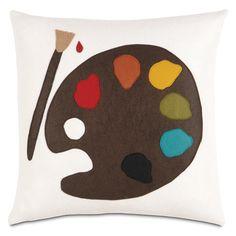 Artist Pillow - a designer throw pillow   www.designerpillowshop.com