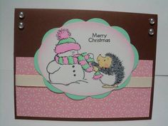 Snowman and Hedgy by strwberizncream - Cards and Paper Crafts at Splitcoaststampers