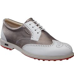 ECCO Women's Classic Hybrid Spikeless Golf Shoes - White/Moon Rock at Golfsmith.com