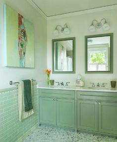 adelaparvu.com despre vopsea lavabila in bucatarie si baie, Foto Rachel Reider Interiors