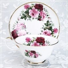 Summer Rose Deluxe Bone China Cup & Saucer