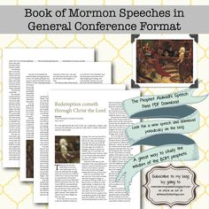 Abinadi's last speech in general conference format