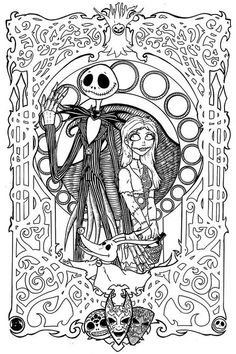 Free Printables: Nightmare Before Christmas Coloring Pages …