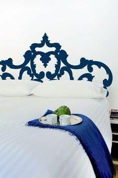 jolie tete de lit alinea stickers pour la chambre à coucher