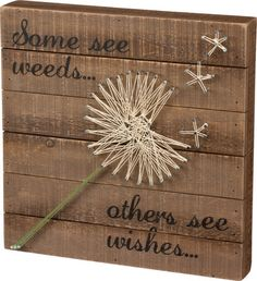 This unique dandelion string art sign is a perfect accent piece for any room in your home or vacation getaway!