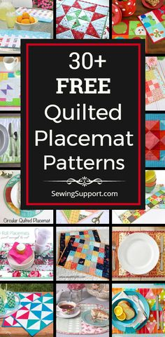 Placemat Diy: Free Quilted Placemat patterns, tutorials, and diy sewing projects, including ideas for round and patchwork designs. Great for use with jelly roll and charm pack fabric bundles. Informations About P Quilted Placemat Patterns, Easy Quilt Patterns, Placemat Diy, Sewing Patterns Free, Quilting Ideas, Small Quilts, Mini Quilts, Square Placemats, Quilt Placemats