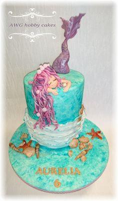 Mermaid Theme Birthday, Birthday Cake, Lake Party, Little Mermaid Cakes, Sea Cakes, Cool Cake Designs, Mermaid Baby Showers, Mermaid Parties, Novelty Cakes