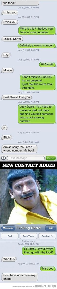 I believe you have a wrong number…