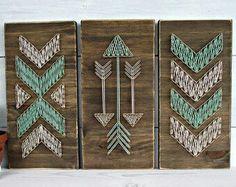 Diy πίνακές Cute Crafts, Crafts To Do, Arts And Crafts, Wood Crafts, String Art Diy, String Crafts, Diy Tableau, String Art Patterns, String Art Tutorials