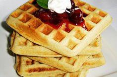 Fahéjas almás gofri | Receptkirály.hu Winter Food, Waffles, Food Porn, Breakfast, Morning Coffee, Waffle, Treats