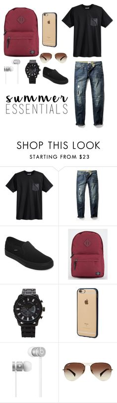 """Men style"" by jackiemarie99 ❤ liked on Polyvore featuring Hurley, MANGO MAN, Vans, Parkland, Forever 21, Incase, Beats by Dr. Dre, Ray-Ban, men's fashion and menswear"