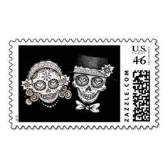 Los Novios - Day of the Dead Stamps