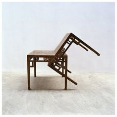 "Ai Weiwei ""Two Joined Square Tables"" 2005 tables, Qing dynasty - Ai Weiwei, Contemporary Artists, Modern Contemporary, Contemporary Chairs, Muebles Art Deco, Modern Art Sculpture, Wei Wei, Square Tables, Conceptual Art"