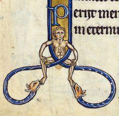 foot lickers'The Rutland Psalter', England ca. 1260British Library, Add 62925, fol. 13v