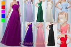 Long One-Shoulder Wedding Bridesmaid Prom Ball Evening Formal Dress Size 6-26