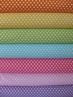 Michael Miller, Kiss Dots in FAT QUARTERS, 7 Total