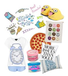 """""""Slumber Party"""" by iuliaiulia-1 ❤ liked on Polyvore featuring Boohoo and slumberparty"""