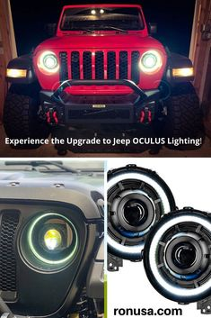 Easily Upgrade to the Powerful Jeep OCULUS Lighting, and experience the difference. #jeep #jeepwrangler #jeepaccessories #jeeprubicon
