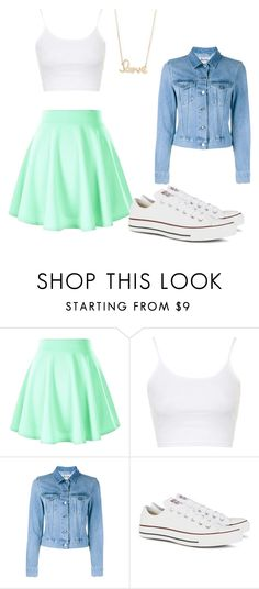 """Spring Look"" by db-siana ❤ liked on Polyvore featuring Topshop, Acne Studios, Converse and Sydney Evan"