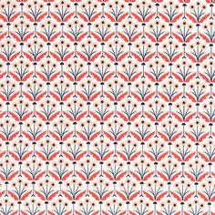 124605 Pretty Posies | Coral from Wildwood by Elizabeth Olwen for Cloud9 Fabrics