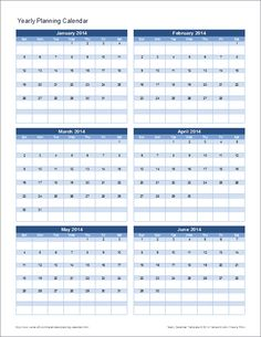 A Free Perpetual Yearlymonthly Calendar Template For Excel