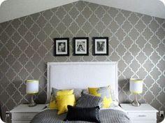 quatrefoil wall stencil