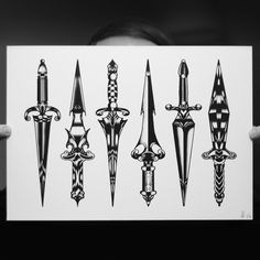 """DAGGERS DAGGERS DAGGERS"" Edition of 30 - tomgilmour.com/store@tomgilmourart"