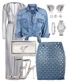 """""""DenimxDenim"""" by delissa-thefashionista on Polyvore featuring Balmain, Yves Saint Laurent, Tom Ford, Chopard, Soul Cal, Giuseppe Zanotti, Fendi and Cartier"""
