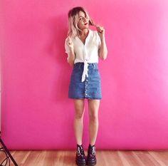 Mini A Line Skirt 2017 Street Style