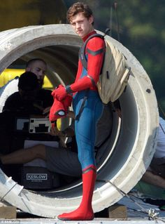Tom Holland sur le tournage de Spider-Man Homecoming