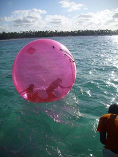 want to go tubing like this you cant fall out and can see the water beneath you! so cool.