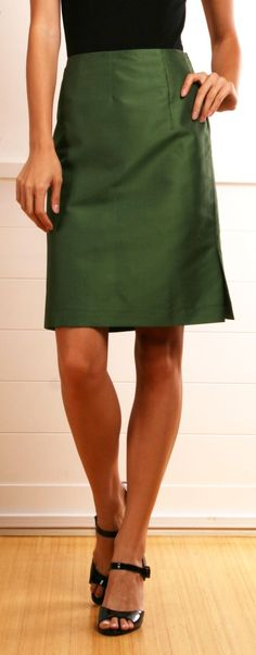 High waisted green skirt,great addition to your year round wardrobe!!!