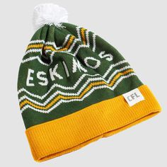 CFL Edmonton Eskimos Toque. Dress in style this winter with the Eskimos toque. Whether you're just walking through the streets of Edmonton or in the stands at Commonwealth Stadium, make sure you #RepYourHood with this limited edition toque.  An official Tuck Shop and CFL collaboration.  Proudly Made in Canada. Commonwealth, Collaboration, Walking, Canada, Knitting, Winter, Shop, How To Make, Dress