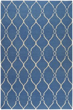 Surya Fallon Fallon Vertical Blue / Ivory (FAL-1011) Area Rugs $848