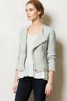 Shimmered Tweed Moto Jacket - anthropologie.com
