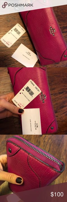 Coach Pink Wallet no leather damage Got it last year for Christmas (less than a year used). No leather damaged at all. Very well preserved. Payment via PayPal (safety to buyer and seller). Coach Bags Wallets