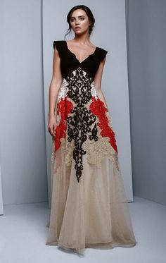 057ec58ac7f Buy the BC1330 V-Neck Embellished A-Line Evening Gown by Beside Couture by
