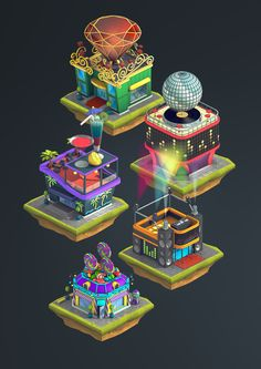 Isometric graphics: City Island 2 by Ugis Brekis, via Behance